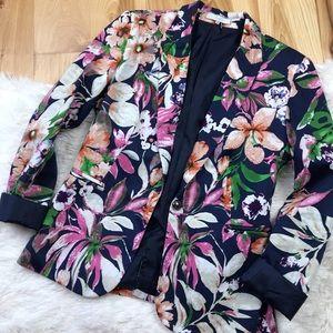 Fate Navy Floral Blazer